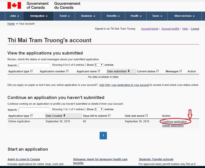 Canada Visa Application Status
